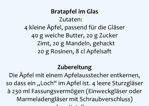 Vorschau Rezept Bratapfel im Glas