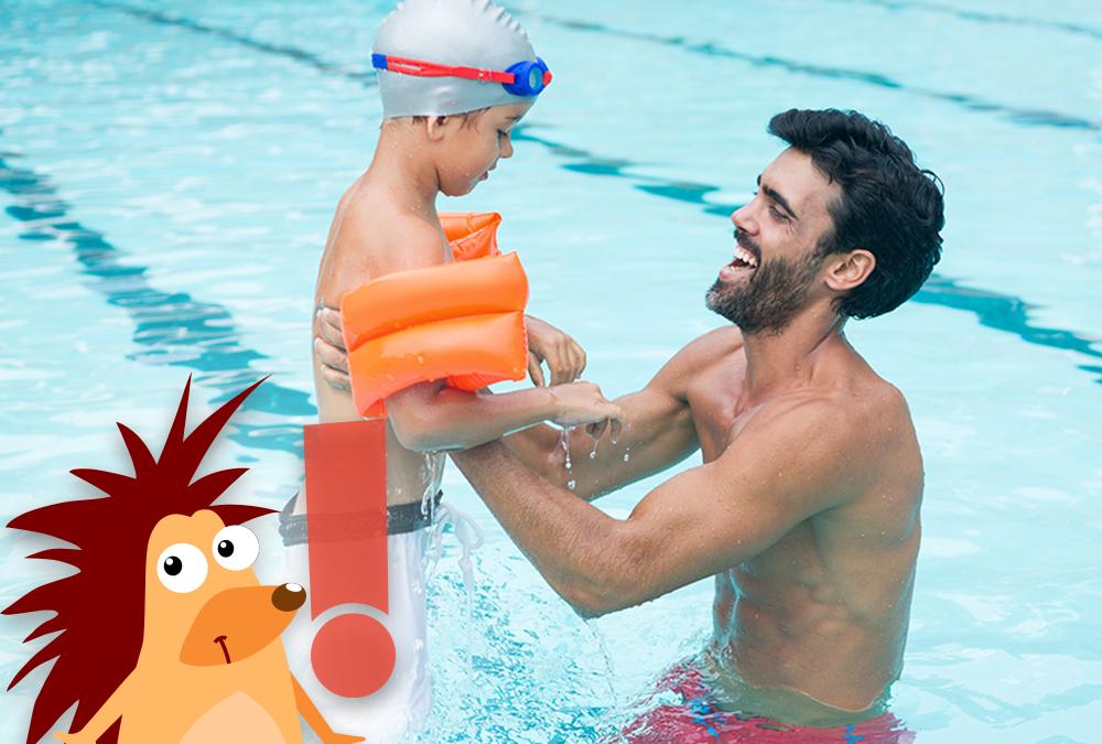 Pflasterpass® -Baden mit Schwimmflügeln bei Kindern