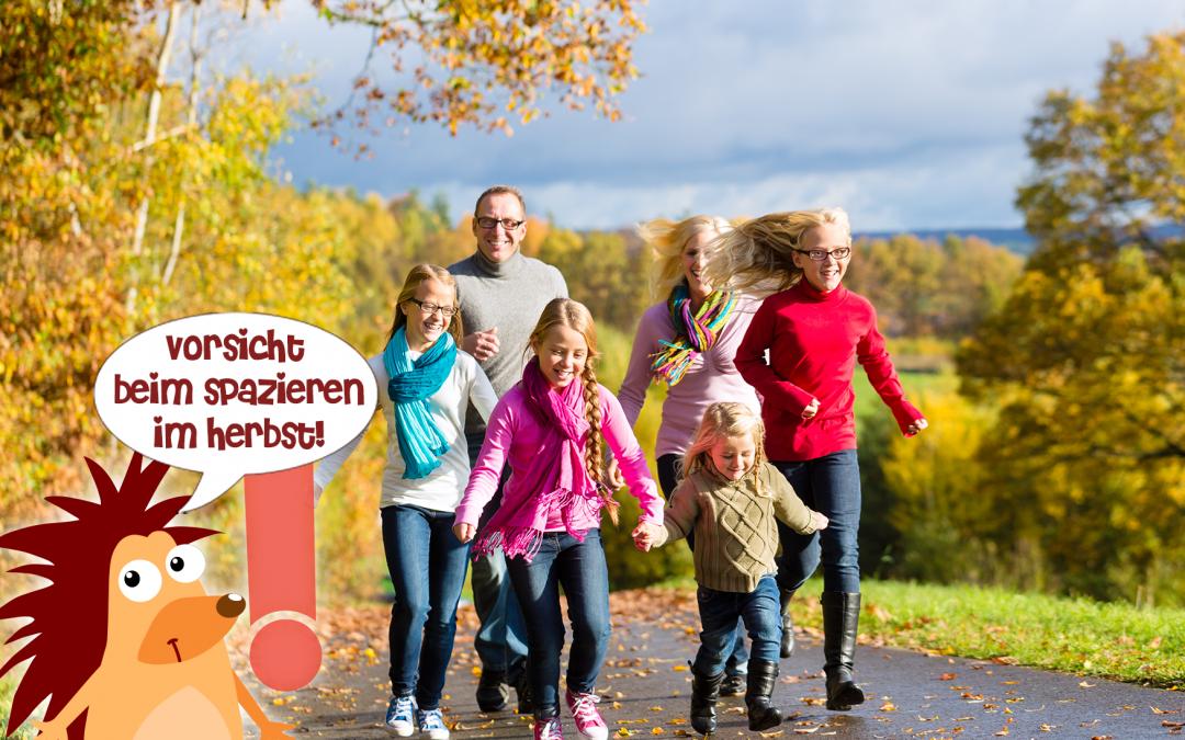 Pflasterpass® -Vorsicht beim Herbstspaziergang mit der Familie